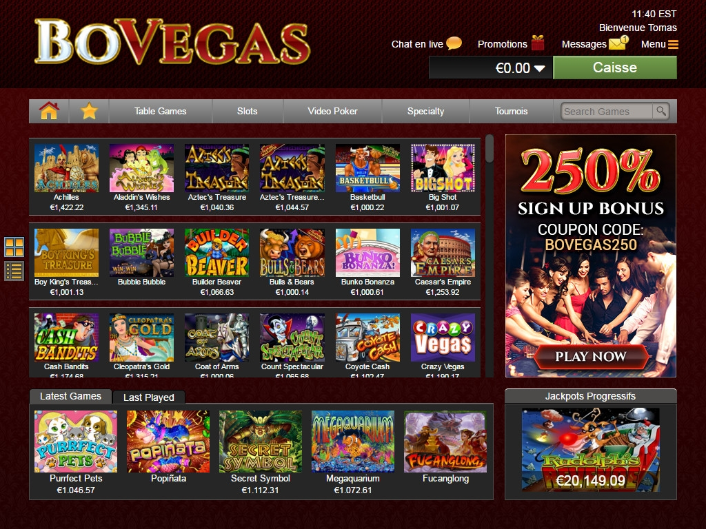 The online casino no deposit bonus