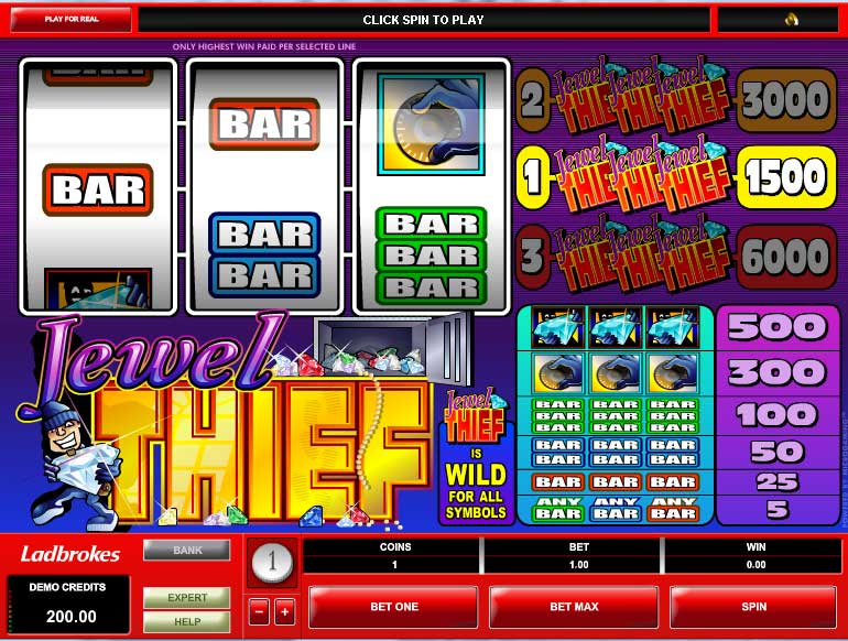 Jewel Thief™ Slot Machine Game to Play Free in Microgamings Online Casinos