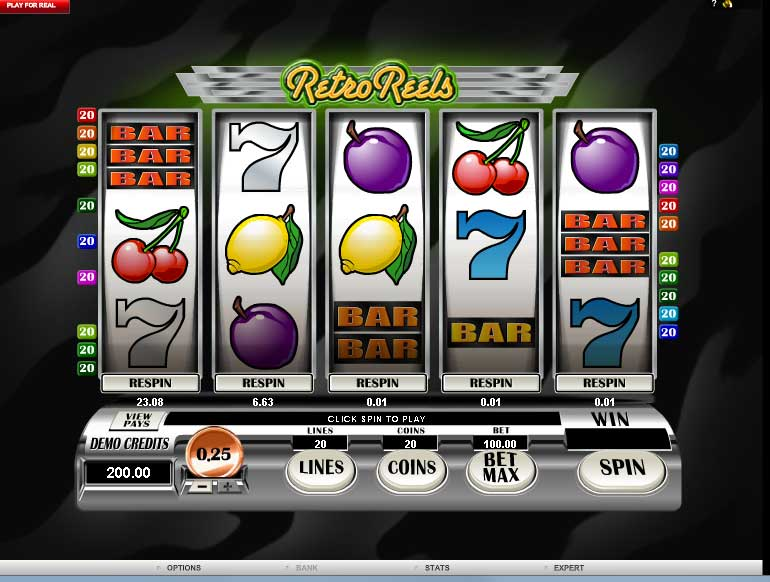 Retro Reels Slot Machine - Play for Free in Your Web Browser