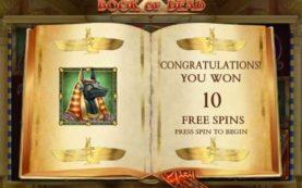 Book of Dead slot screenshot 1