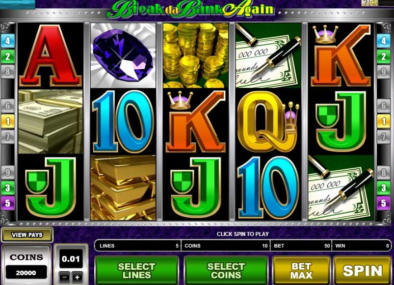 Break da bank again slot game