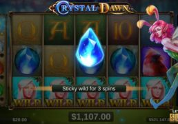 Crystal Dawn Slot Machine Screenshot 2