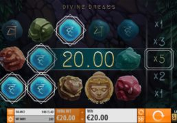 Divine Dreams Slot Machine Screenshot 2