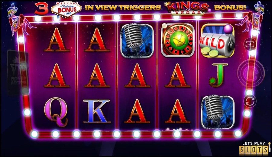 Kings of Vegas Slot Machine Screenshot 1