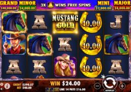Mustang Gold Slot Machine Screenshot 4