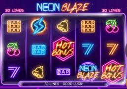 Neon Blaze Slot Machine Screenshot 2
