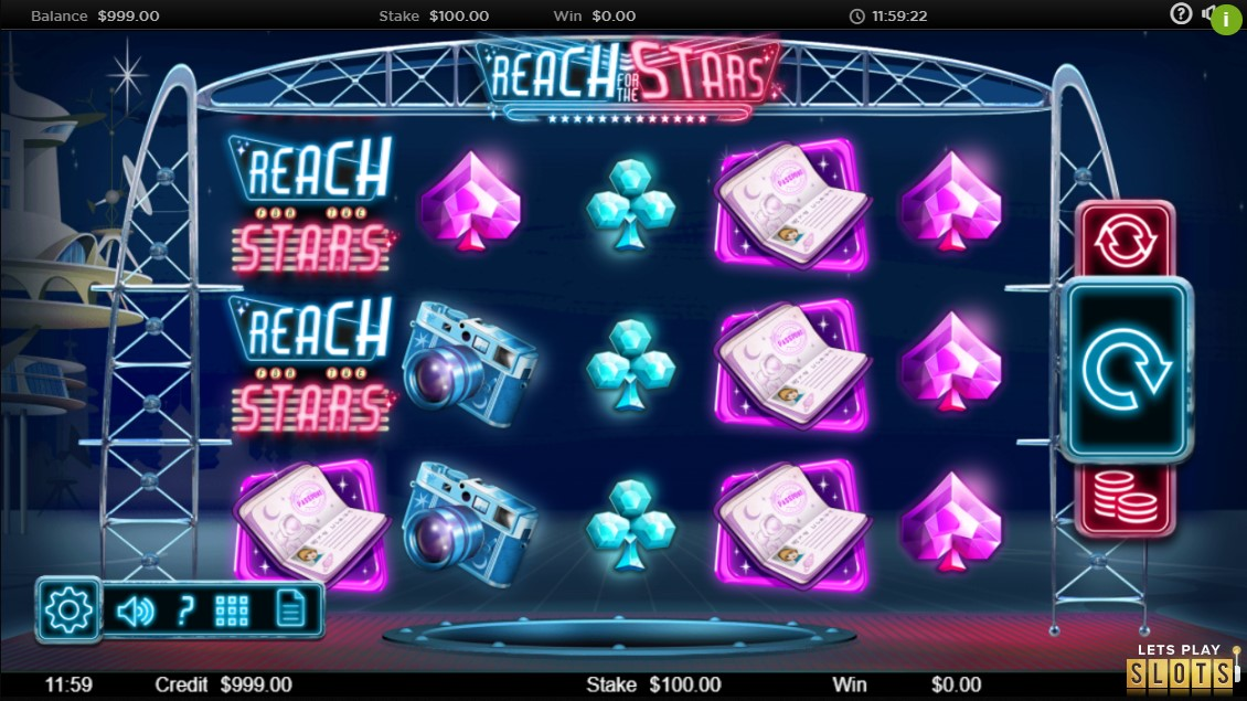 Reach for the Stars Slot Machine Screenshot 1