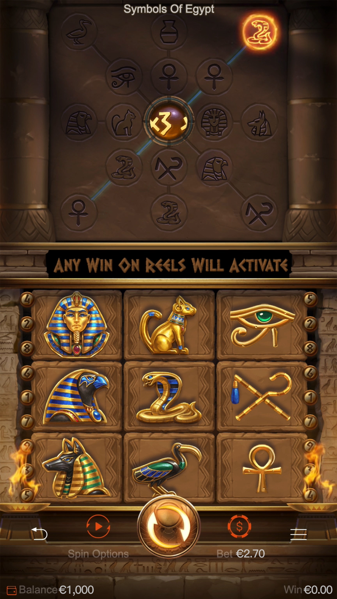 Symbols of Egypt Slot Machine Review and Play for Free