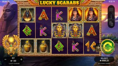 Lucky Scarabs from Booming Games