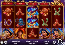 Platipus Releases Aladdin Themed 1001 Spins Slot